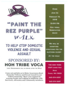 ''Paint The Rez Purple'' Help Stop Domestic Violence and Sexual Assault @ The Hoh Tribe | Forks | Washington | United States