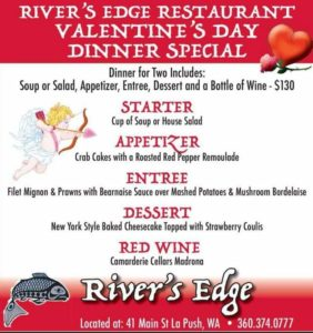 River's Edge Valentine Special @ River's Edge Restaurant | La Push | Washington | United States