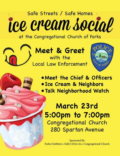 Ice Cream Social @ Forks Congregational Church | Forks | Washington | United States