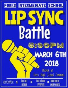 Forks Intermediate School Lip Sync Battle @ Forks High School Commons | Forks | Washington | United States