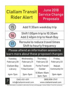 Clallam Transit Rider Alert @ Forks Transit Center