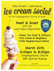 Forks Police Meet and Greet Ice Cream Social @ Forks Congregational Church | Forks | Washington | United States