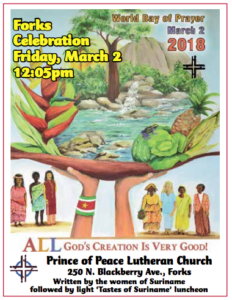 World Day of Prayer @ Prince of Peace Lutheran Church | Forks | Washington | United States