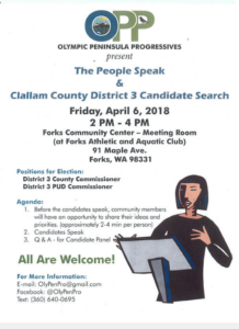 The People Speak & Candidate Search @ Forks Community Center-Meeting Room | Forks | Washington | United States