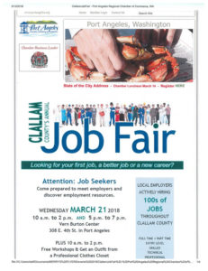 Clallam County Job Fair @ Vern Burton Center | Port Angeles | Washington | United States