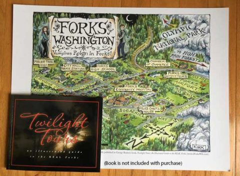 """Vampires Reign in Forks"" shown with copy of Twilight Tours (Books old Seperately)"