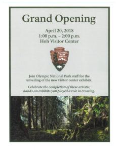 Grand Opening Hoh Visitor Center Exhibits @ Hoh Visitor Center | Forks | Washington | United States