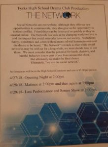 The Network High School Play @ FHS Commons   Forks   Washington   United States