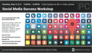 Social Media Success Workshop @ Peninsula College at Forks | Forks | Washington | United States