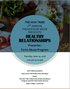 Healthy Relationships @ Hoh Tribal Gymnassium | Forks | Washington | United States