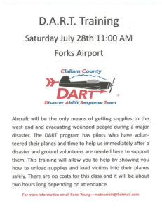 D.A.R.T. Training @ Forks Airport | Forks | Washington | United States