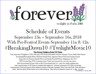 FTF Schedule as of July 2018