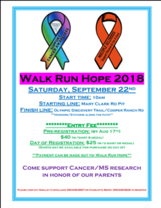 Walk Run Hope 2018 @ Mary Clark Rd Pit to Cooper Ranch Rd.