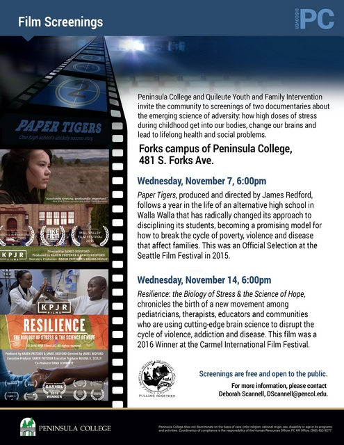 Film Screenings-Forks Campus of Peninsula College @ Peninsula College, Forks Campus | Forks | Washington | United States