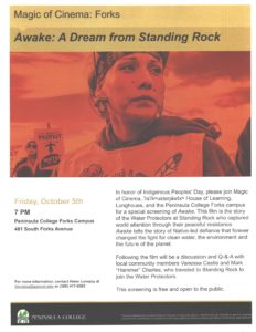Awake:  A Dream from Standing Rock @ Peninsula College | Forks | Washington | United States