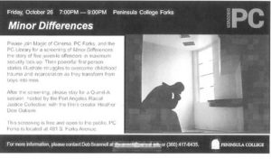 "Magic of Cinema ""Minor Differences"" @ Peninsula College 