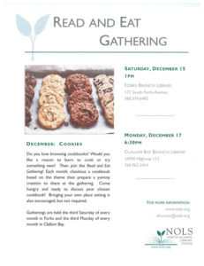 NOLS:  Read and Eat Gathering @ Forks Branch Library | Forks | Washington | United States