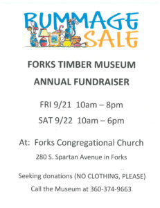 Forks Timber Museum Annual  Fundraiser @ Forks Congregational Church | Forks | Washington | United States