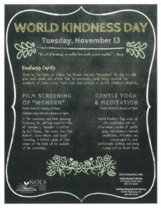 WORLD KINDNESS DAY @ Forks Branch Library | Forks | Washington | United States
