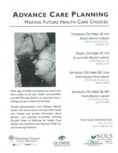 ADVANCE CARE PLANNING @ Forks Branch Library | Forks | Washington | United States