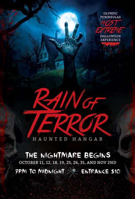 Rain of Terror Haunted Hangar @ Quillayute Airport | Forks | Washington | United States