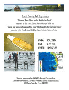 Double Evening Talk Opportunity @ Olympic Natural Resources Center | Forks | Washington | United States