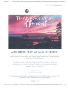 A BOUNTIFUL FEAST AT KALALOCH LODGE! @ Kalaloch Lodge | Forks | Washington | United States