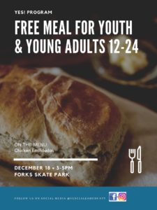 Free Meal for youths and young adults @ Forks Skate Park