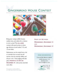 Gingerbread House Contest @ Clallam Bay Library | Clallam Bay | Washington | United States