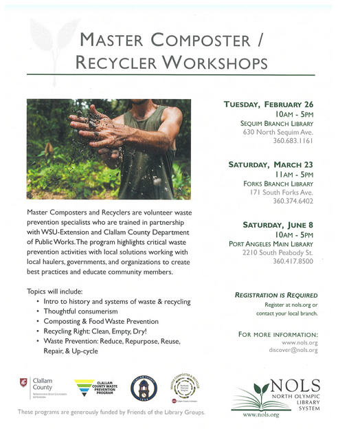 Master Composter/Recycler Workshops @ Forks Branch Library | Forks | Washington | United States