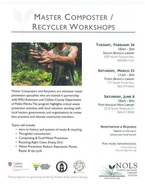 Master Composter/Recycler Workshops @ Forks Branch Library | Forks | Washington | United States