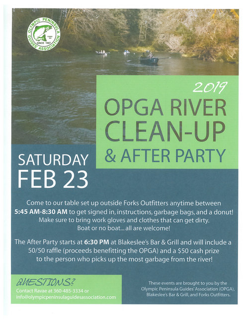 2019 OPGA River Clean-Up & After Party @ Blakeslee's Bar & Grill | Forks | Washington | United States