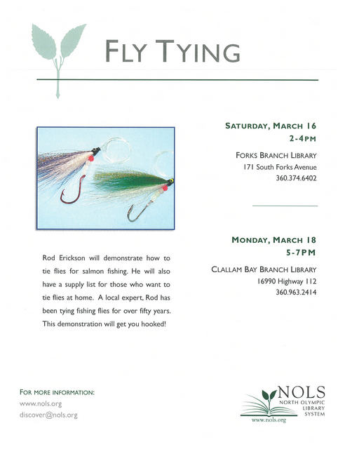 Fly Tying @ Clallam Bay Branch Library | Clallam Bay | Washington | United States