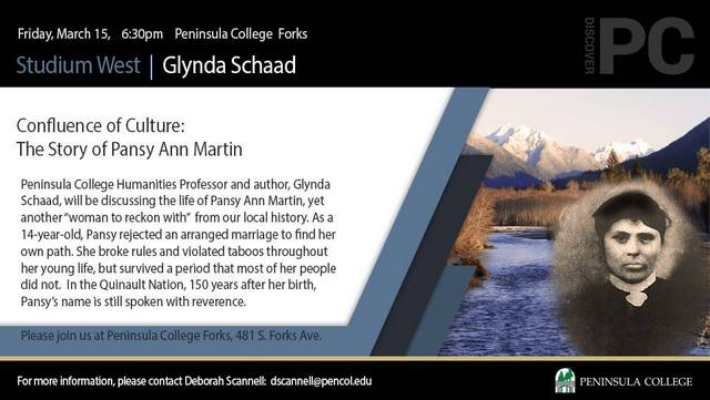 Confluence of Culture: The Story of Pansy Ann Martin @ Peninsula College Forks | Forks | Washington | United States