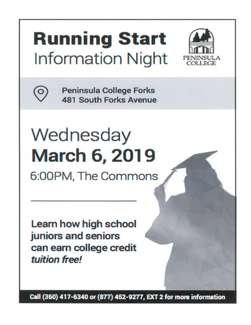 Running Start Information Night @ Peninsula college | Forks | Washington | United States