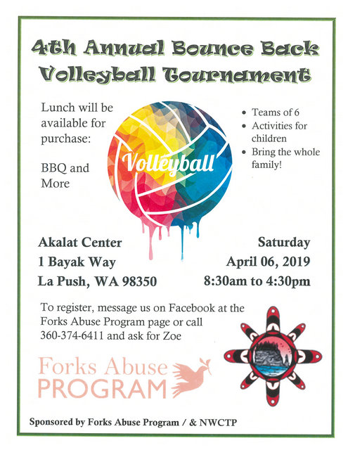 4th Annual Bounce Back Volleyball Tournament @ Akalat Center | La Push | Washington | United States
