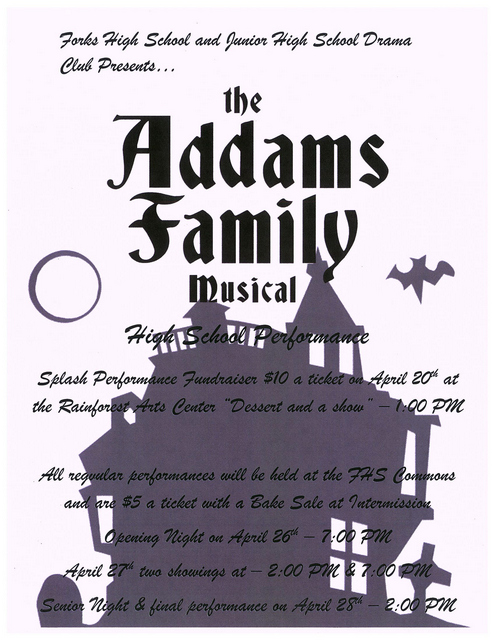 The Addams Family Musical @ Rain Forest Arts Center | Forks | Washington | United States