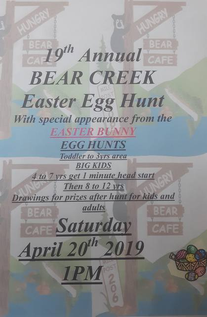 19th Annual BEAR CREEK Easter Egg Hunt @ Hungry Bear Cafe | Beaver | Washington | United States
