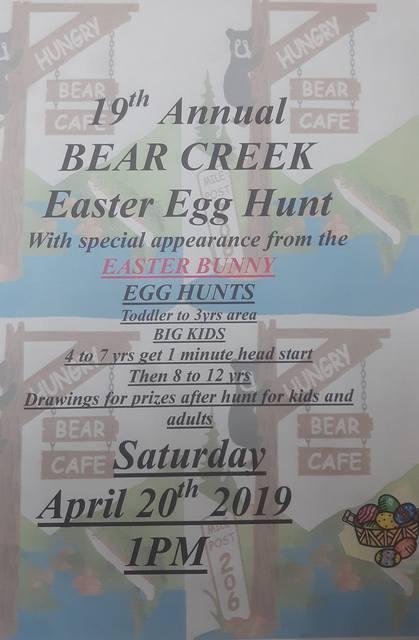 19th Annual BEAR CREEK Easter Egg Hunt @ Hungry Bear Cafe | Beaver | Washington | United States