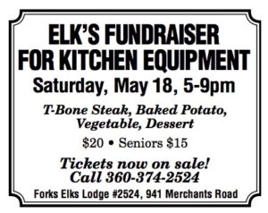 Forks Elk's Lodge Fundraiser and Steak Dinner @ Forks Elks Lodge | Forks | Washington | United States