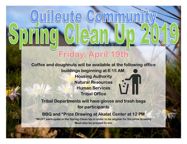 Quileute Community Spring Clean Up 2019 @ Quileute Tribal Office | La Push | Washington | United States