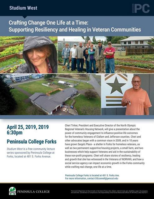 One Life at a Time: Supporting Resiliency and Healing in Veteran Communities @ Peninsula College Forks | Forks | Washington | United States