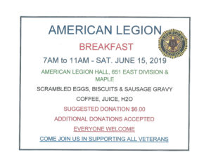 American Legion Breakfast @ American Legion Hall | Forks | Washington | United States