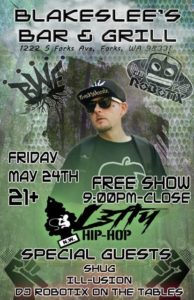 BBG'S Presents HIP-HOP NIGHT! @ Blakeslee's Bar & Grill | Forks | Washington | United States