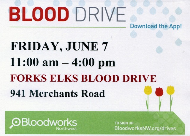 BLOOD DRIVE @ Forks Elks Lodge | Forks | Washington | United States