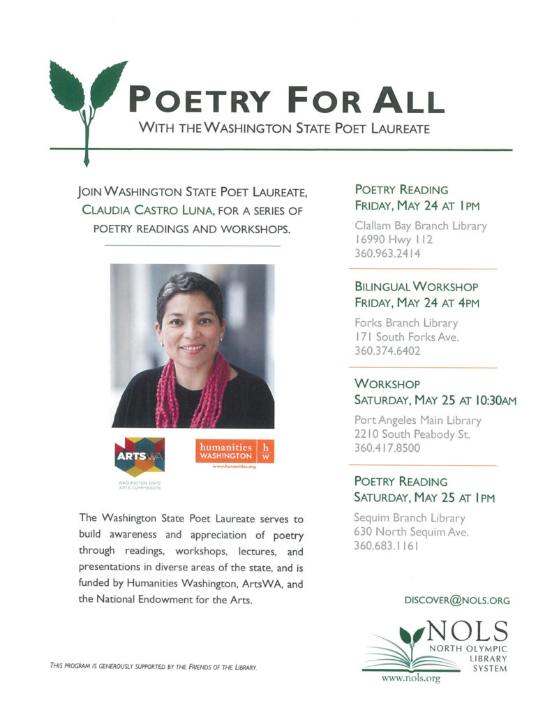 Poetry For All @ Clallam Bay Branch | Clallam Bay | Washington | United States