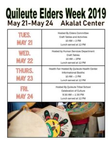 Quileute Elders Week 2019 @ Akalat Center | La Push | Washington | United States