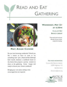 Read and Eat Gathering @ Clallam Bay Branch Library | Clallam Bay | Washington | United States