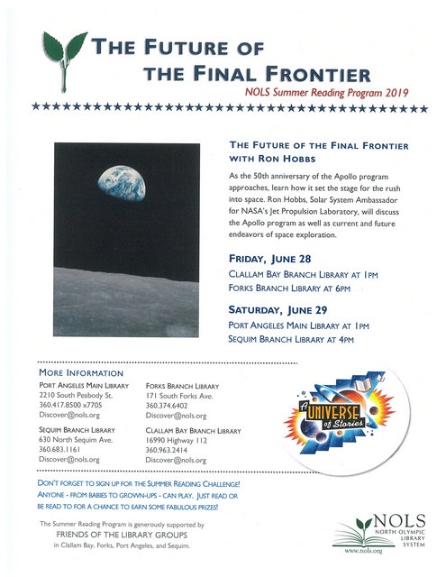 The Future of the Final Frontier @ Clallam Bay Branch Library | Clallam Bay | Washington | United States