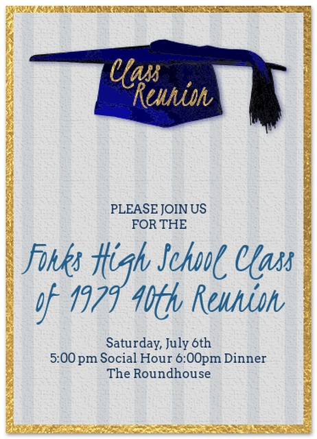 Forks High School Class of 1979 40th Reunion @ The Roundhouse | Forks | Washington | United States
